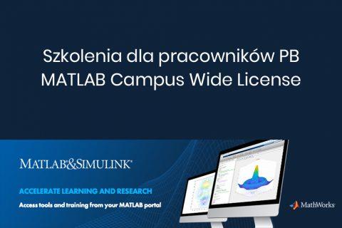 grafika: Szkolenia dla pracowników PB MATLAB Campus Wide License