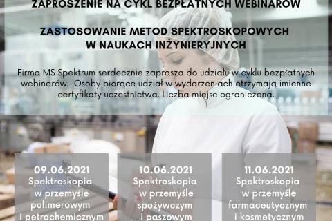 plakat, zaproszenie na cykl bezpłatnych webinariów