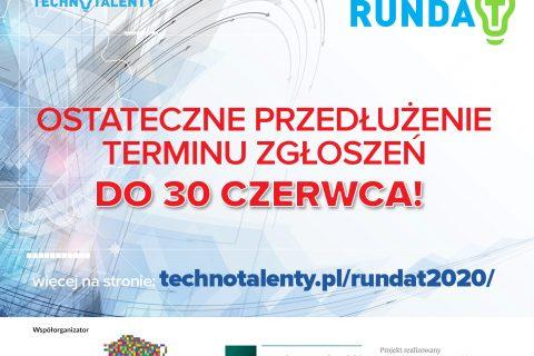 Plakat, Runda T ostateczne przedłużenie terminu zgłoszeń do 30 czerwca 2021 r.