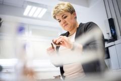 dr Ewa Zapora w laboratorium
